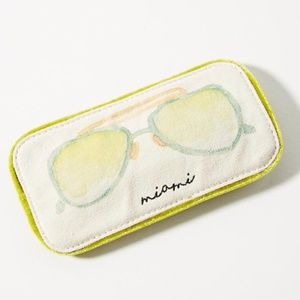 "*NWT* Anthropologie Velvet ""Miami"" Sunglass Case"
